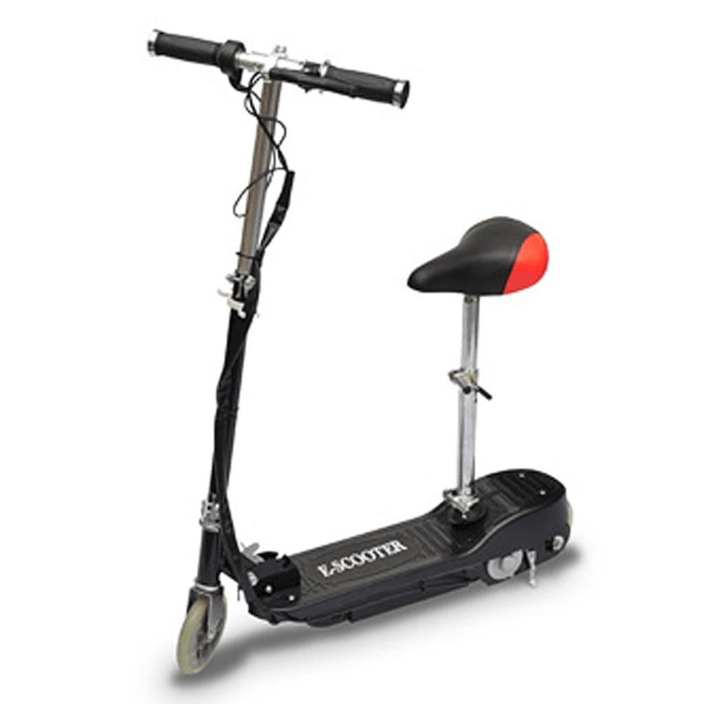 der elektro scooter cityroller mit sitz ab 6 jahre schwarz online shop. Black Bedroom Furniture Sets. Home Design Ideas
