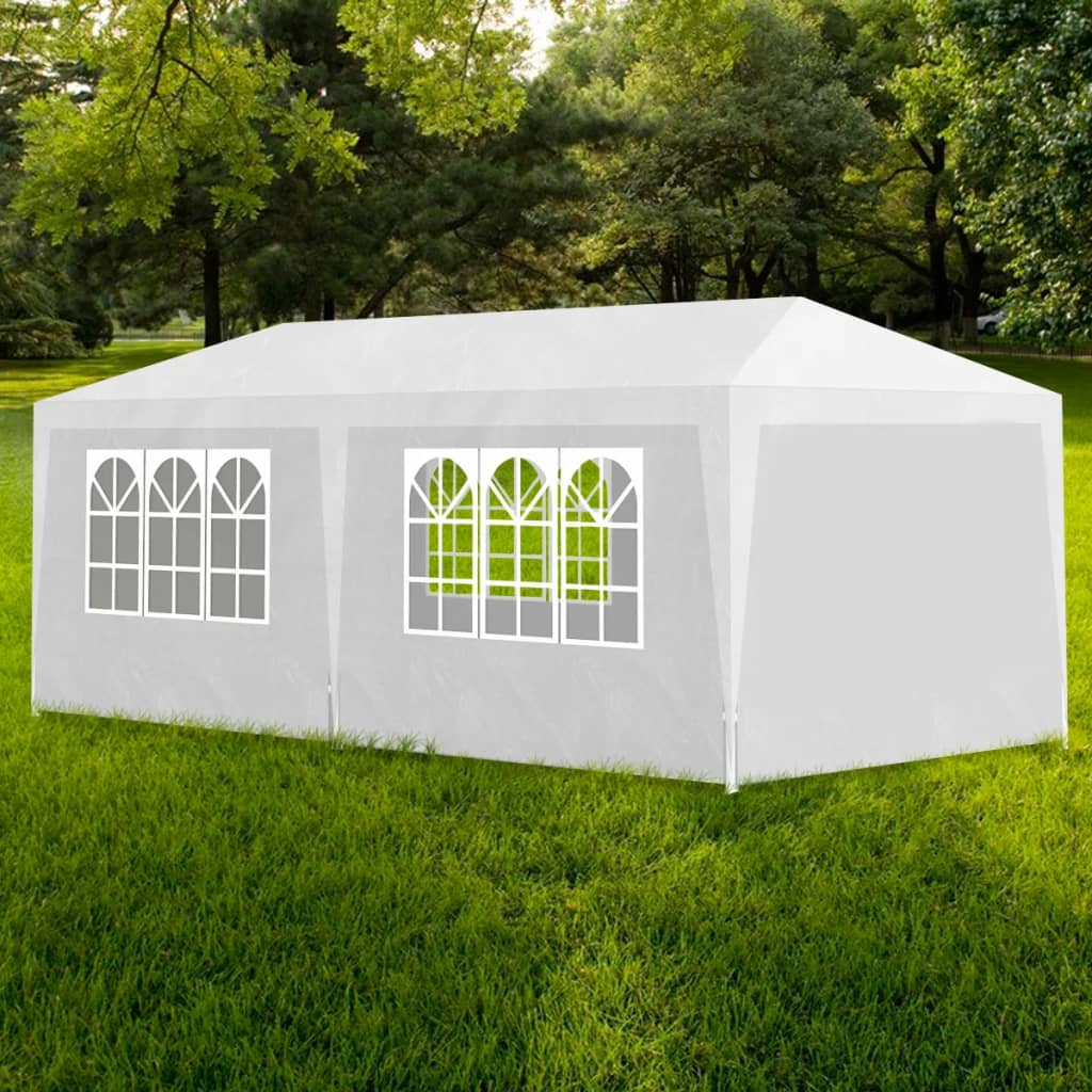 vidaXL 10' x 20' White Party Tent with 6 Walls