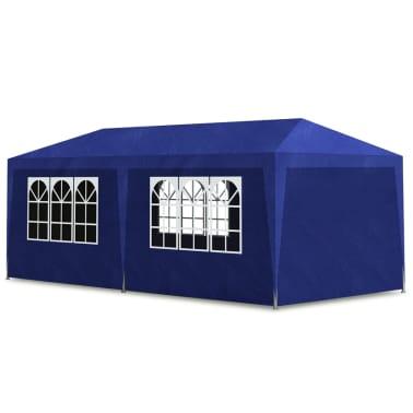 vidaXL Namiot imprezowy 3x6, 6 ścianek, niebieski [2/6]