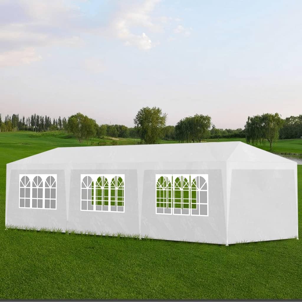 vidaXL-3x9m-Partyzelt-Festzelt-Bierzelt-Gartenzelt-Pavillon-mit-8-Seitenteilen