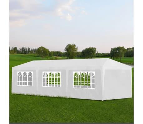 la boutique en ligne vidaxl tonnelle de jardin tente de r ception chapiteau blanc 3x9m. Black Bedroom Furniture Sets. Home Design Ideas