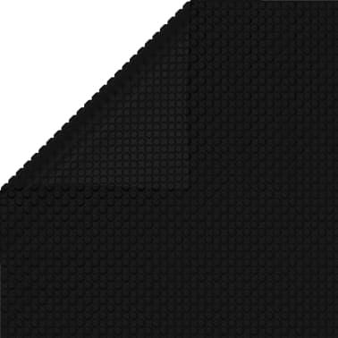 Firkantet PE pool dekke 8 x 5 m - Svart[3/3]