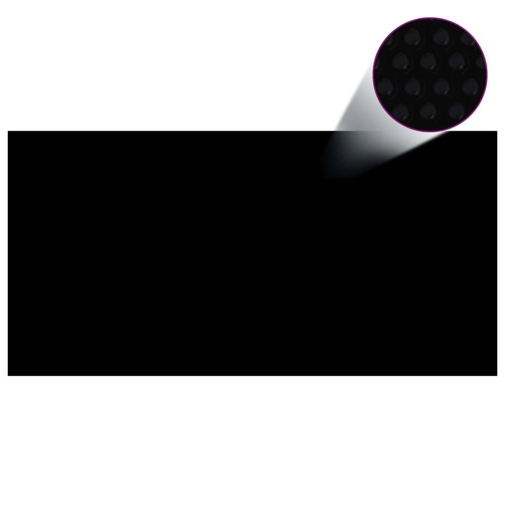 vidaXL Téglalap alakú Fekete PE Medence-takaró 10x5 m