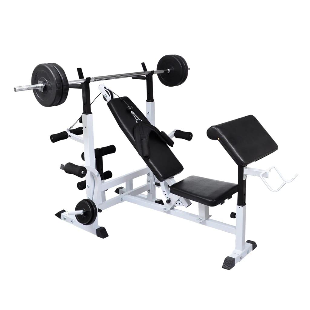 Multi use weight bench vidaxl