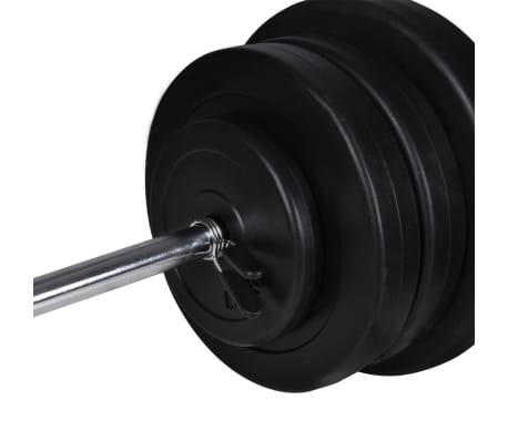 60,5kg Langhantel Kurzhantel Hantelset Gewichtscheiben[3/4]