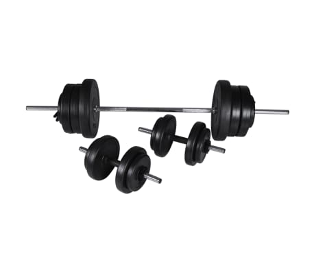 60,5kg Langhantel Kurzhantel Hantelset Gewichtscheiben[2/4]