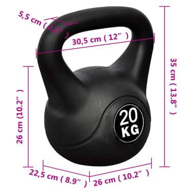 Kettlebell Kugelhantel Trainingshantel Gewicht 20KG[4/4]