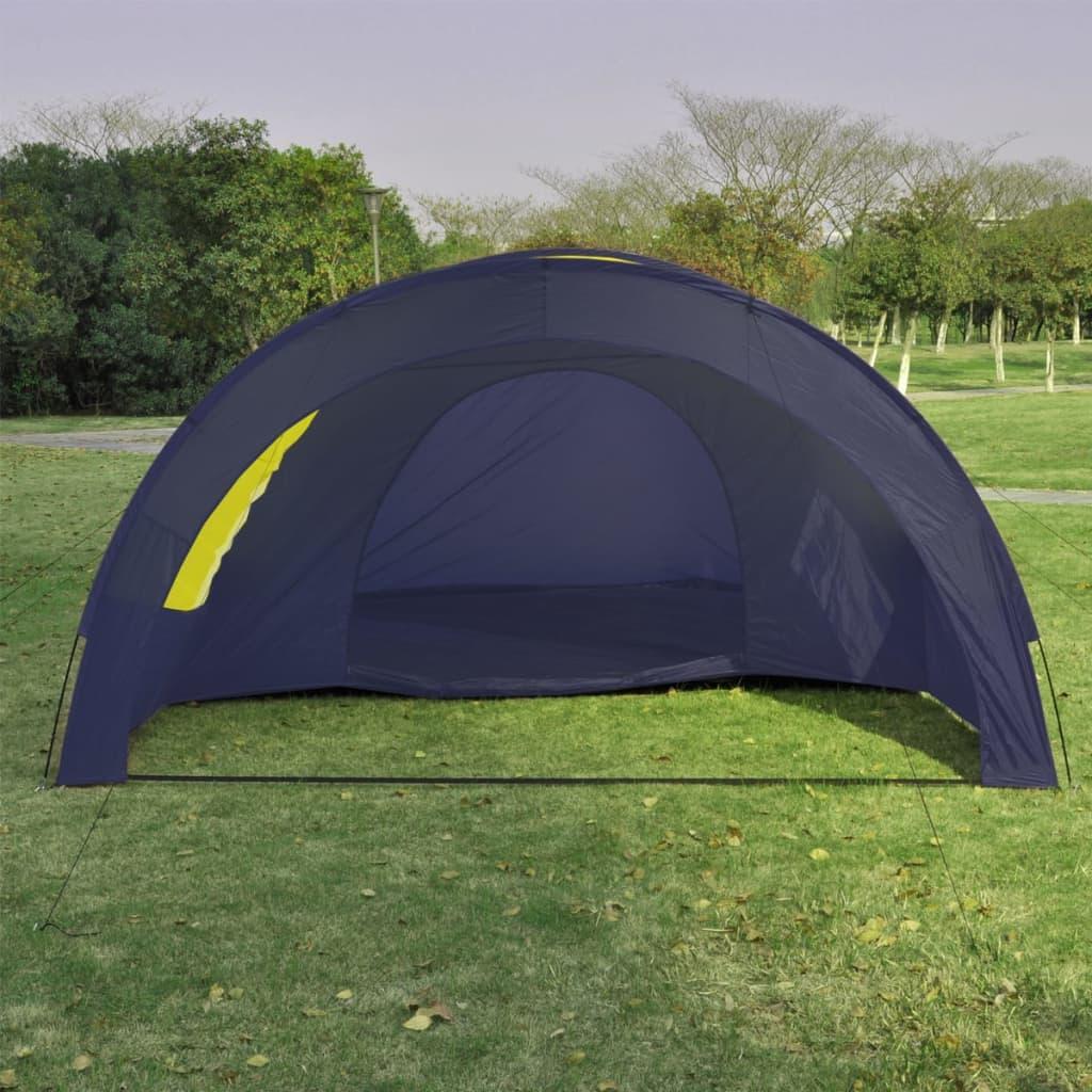 acheter tente d me familiale 6 places bleue et jaune pas. Black Bedroom Furniture Sets. Home Design Ideas