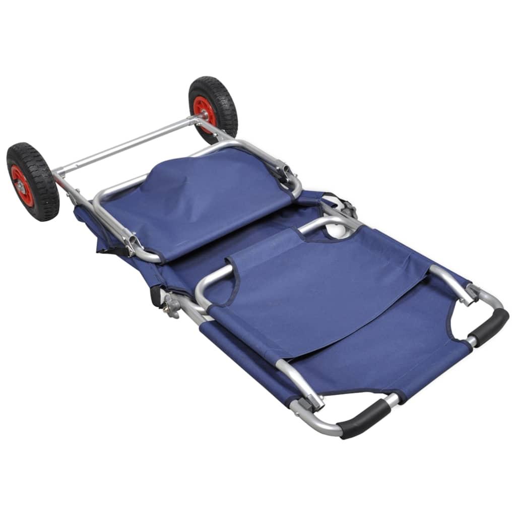 La boutique en ligne Chariot de plage chaise table 3 en 1 bleu