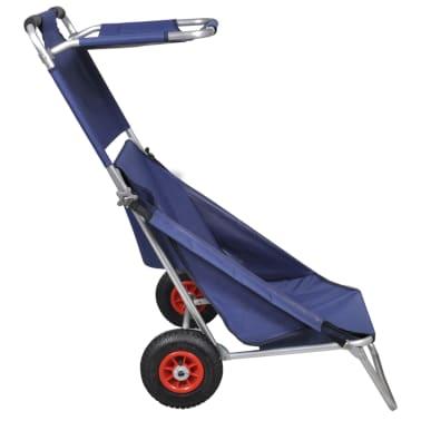 3 in 1 Transportwagen Strandwagen Strandstuhl Strandtisch blau[2/5]
