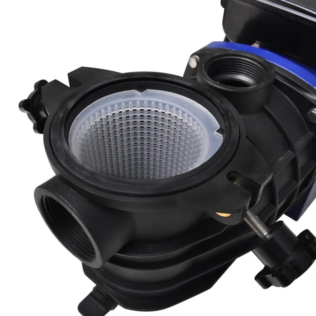 Pompa di filtrazione elettrica per piscina 500w blu for Pompa per piscina