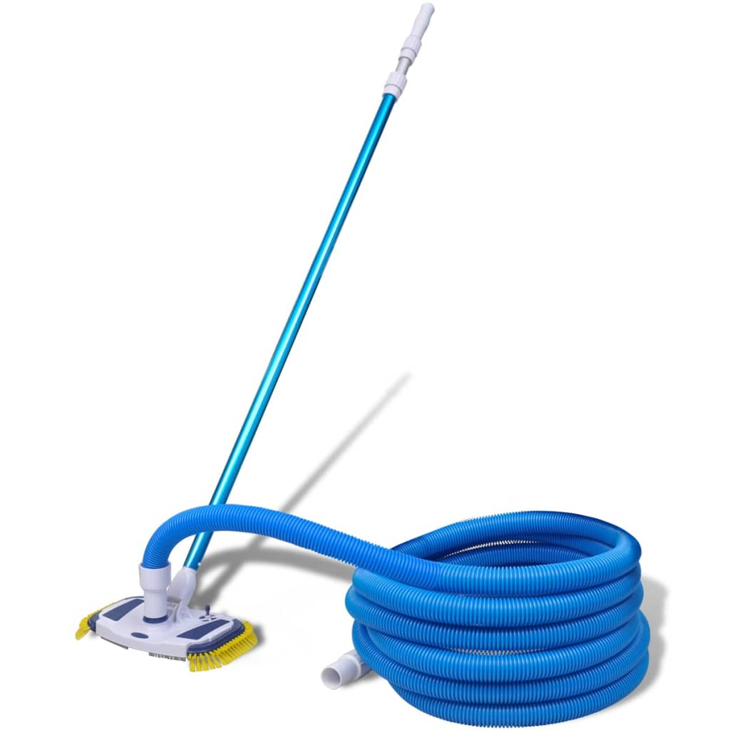 Pool cleaning tool vacuum with telescopic pole and hose for Brancher un aspirateur de piscine
