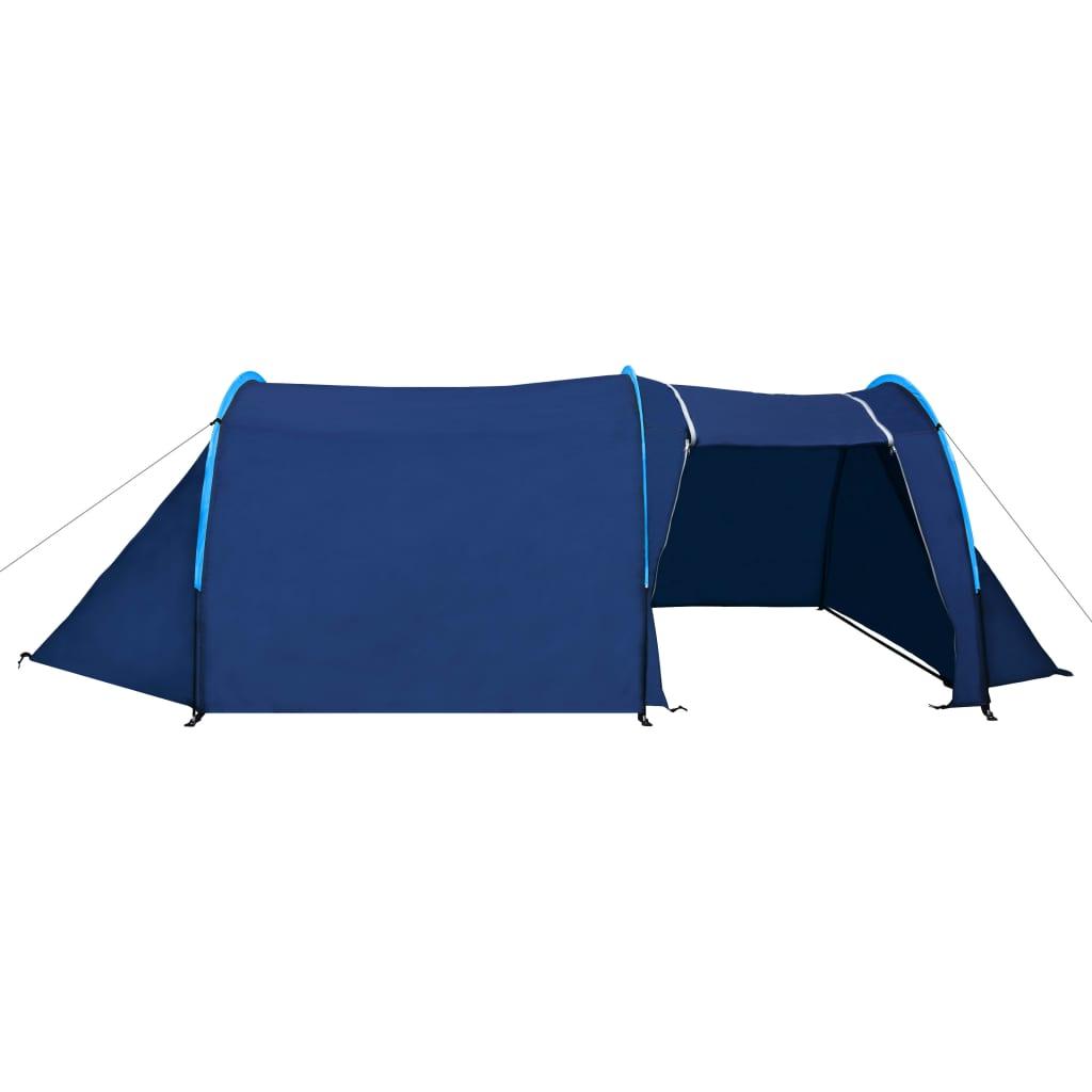 Tente-de-camping-4-Personnes-Bleu-marin-bleu-clair-Tentes miniature 4
