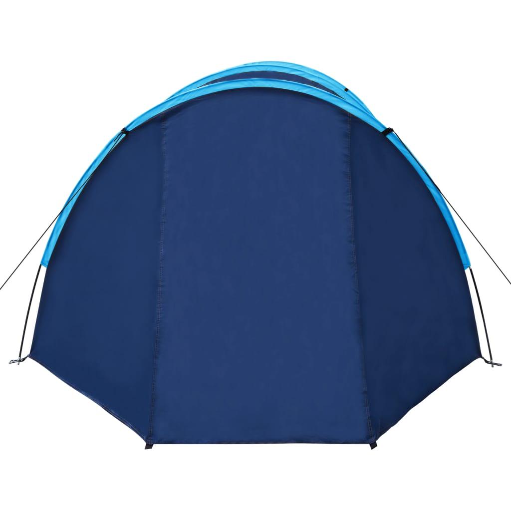 Tente-de-camping-4-Personnes-Bleu-marin-bleu-clair-Tentes miniature 5