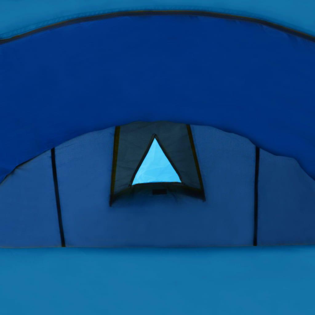 Tente-de-camping-4-Personnes-Bleu-marin-bleu-clair-Tentes miniature 6