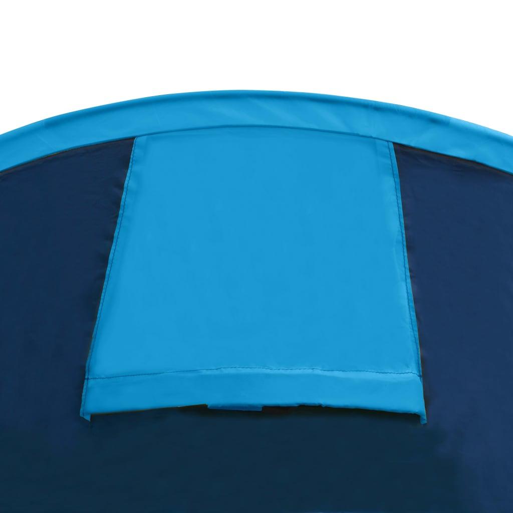 Tente-de-camping-4-Personnes-Bleu-marin-bleu-clair-Tentes miniature 7