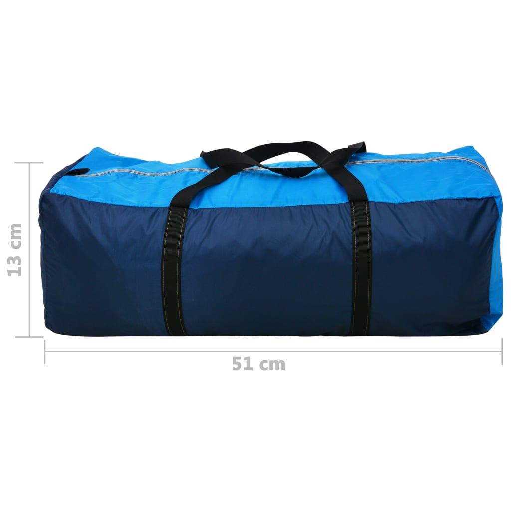 Tente-de-camping-4-Personnes-Bleu-marin-bleu-clair-Tentes miniature 9