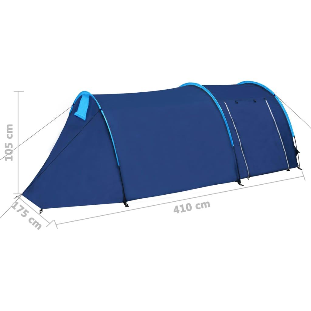 Tente-de-camping-4-Personnes-Bleu-marin-bleu-clair-Tentes miniature 10