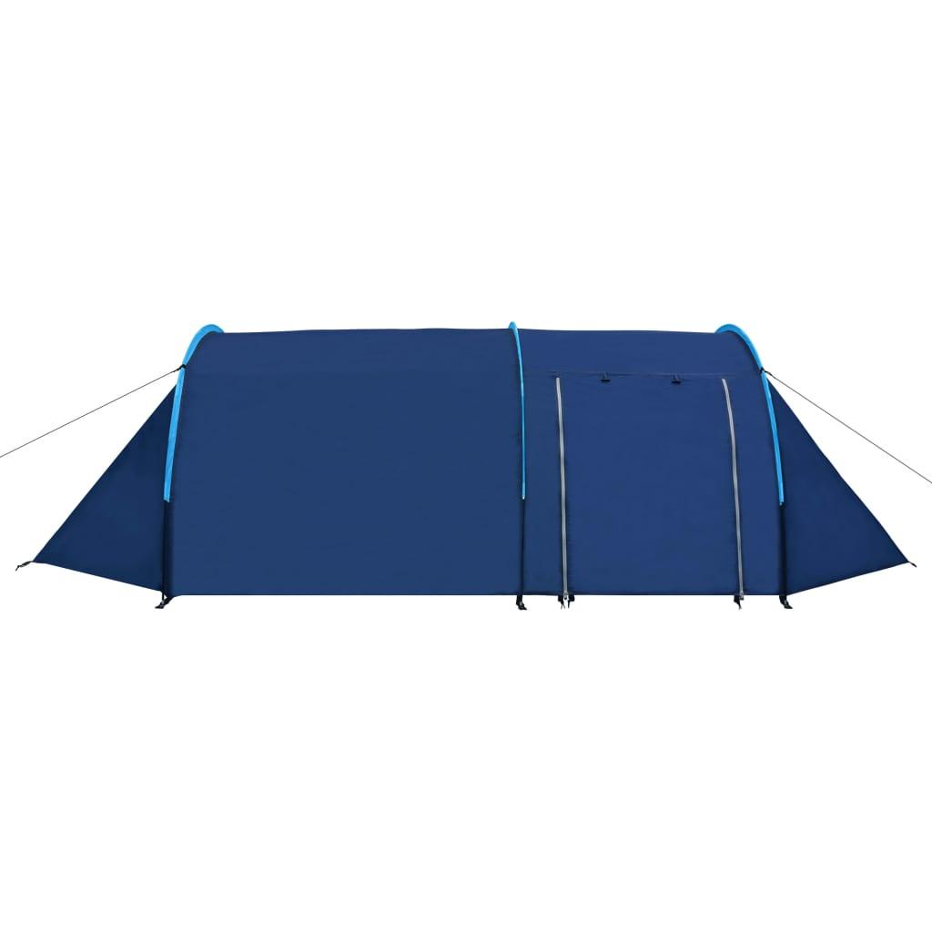 Tente-de-camping-4-Personnes-Bleu-marin-bleu-clair-Tentes miniature 3