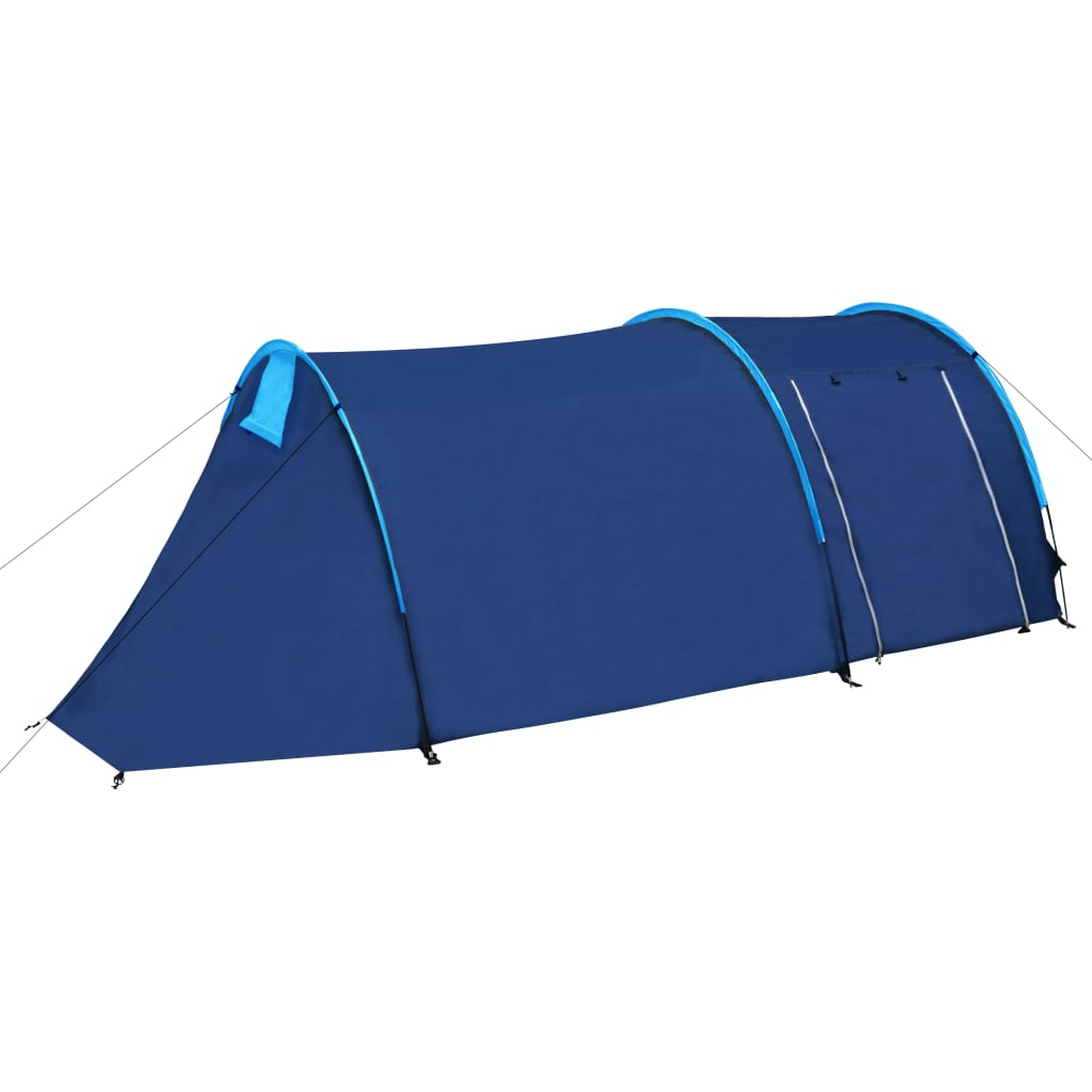 Tente-de-camping-4-Personnes-Bleu-marin-bleu-clair-Tentes miniature 2