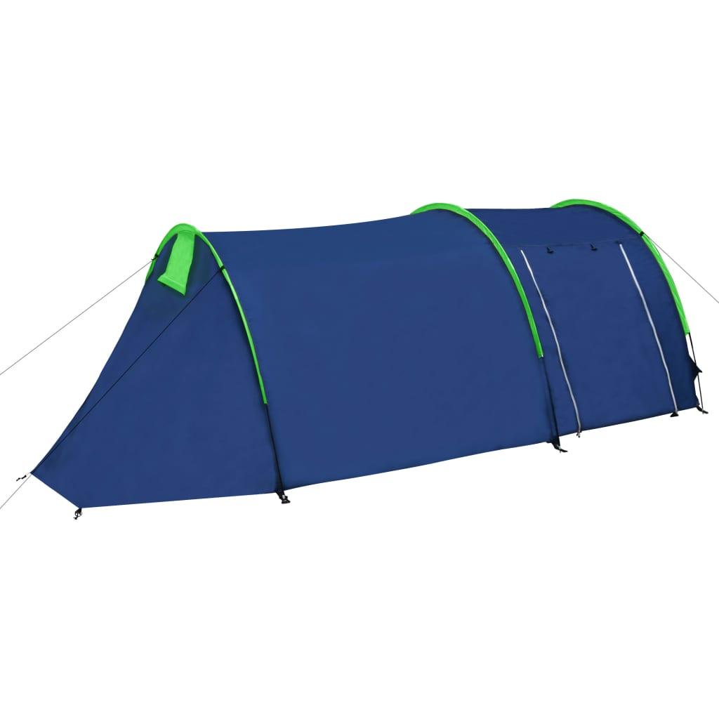 vidaXL Campingtent 4-Persoons Marineblauw/Groen Kampeer Camping Tent Kamperen