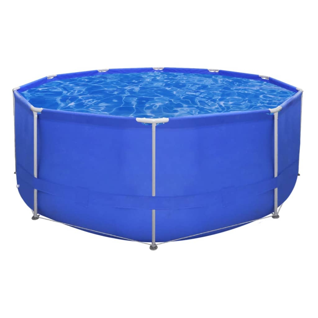 Above ground swimming pool steel frame round 12 39 x 4 39 - Steel frame pool ...