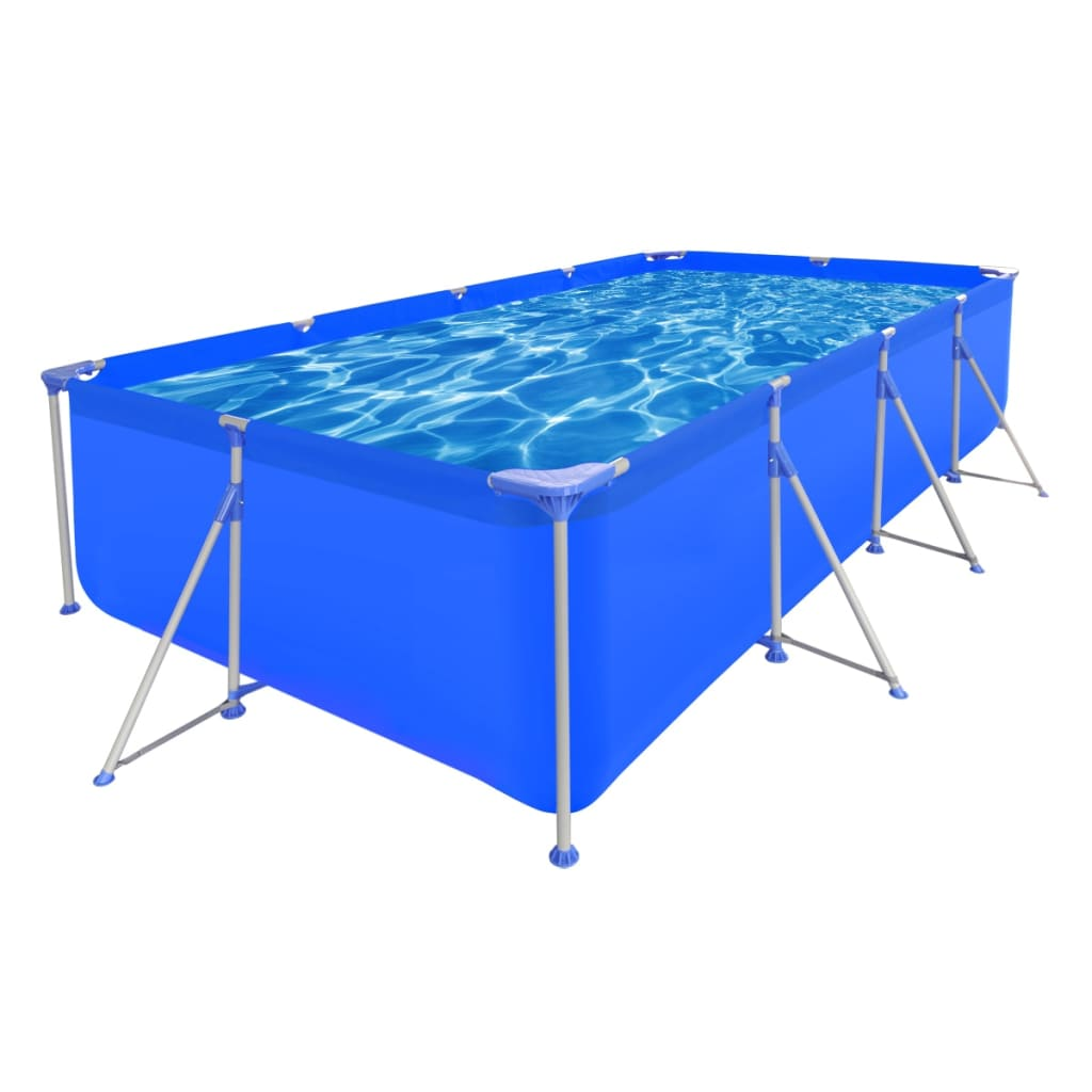 New above ground garden swimming pool steel frame for Garden pool dimensions
