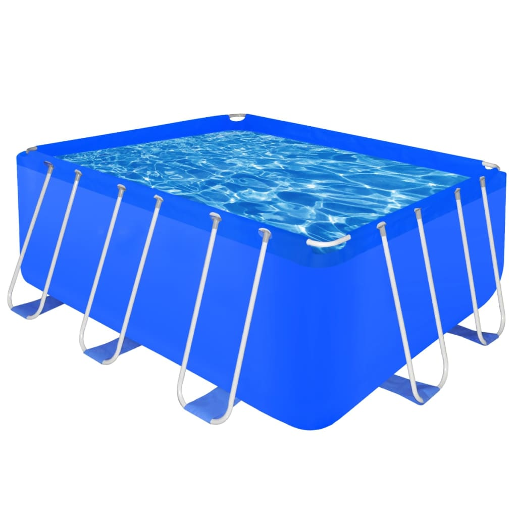 Above ground swimming pool steel rectangular 13 39 1 x 6 39 9 for Square above ground pool