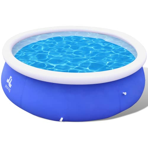 New 10ft Above Ground Swimming Pool Inflatable Spa Filter Pump Round Family Pvc Ebay