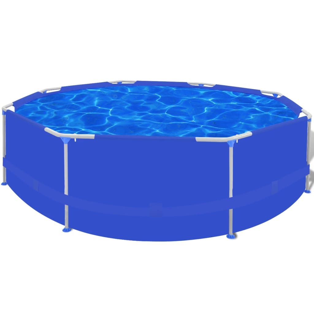 4 Sizes Above Ground Round Swimming Pool Steel Frame