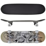 Planche à Roulettes Skateboard 9 Couches Erable Design Dragon 8""