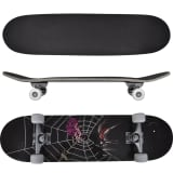 Oval Shape Skateboard 9 Ply Maple Spider Design 8""