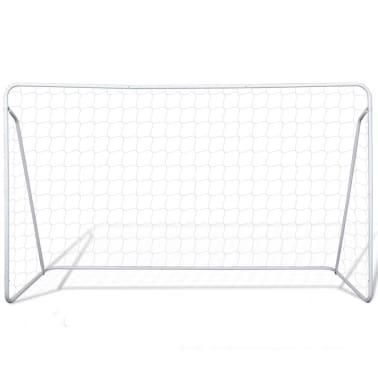 Terasest jalgpallivärav võrguga 240 x 90 x 150 cm[2/4]