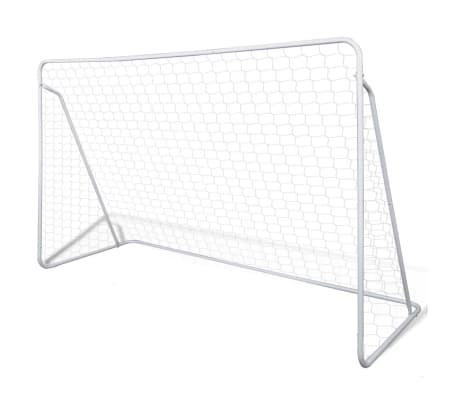 Terasest jalgpallivärav võrguga 240 x 90 x 150 cm