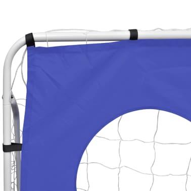 Fotballmål med Skuddvegg Stål 240 x 92 x 150 cm [3/5]