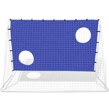Fotballmål med Skuddvegg Stål 240 x 92 x 150 cm [4/5]