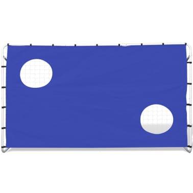 Fotballmål med Skuddvegg Stål 240 x 92 x 150 cm [2/5]