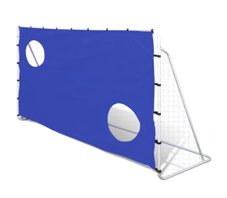 Fotballmål med Skuddvegg Stål 240 x 92 x 150 cm