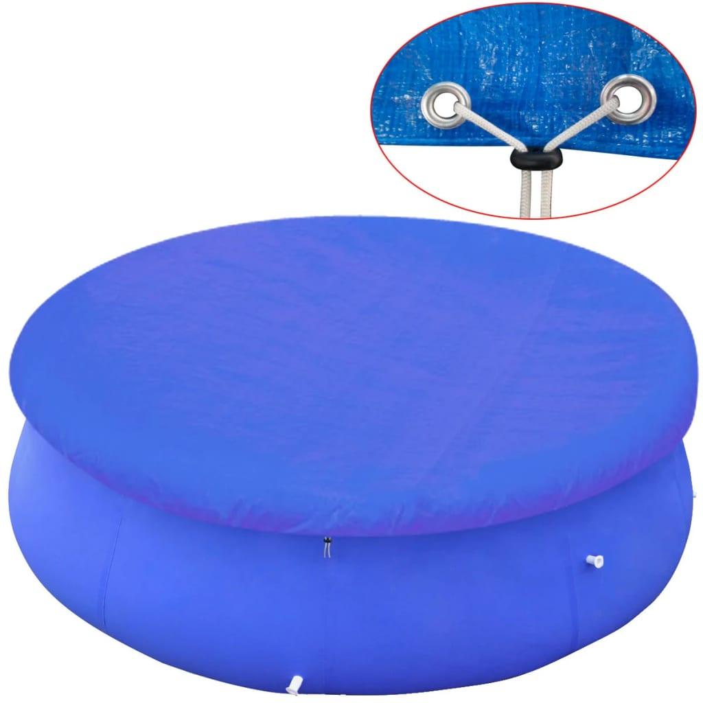 vidaXL kör alakú PE medencetakaró 360-367 cm, 90 g/m˛
