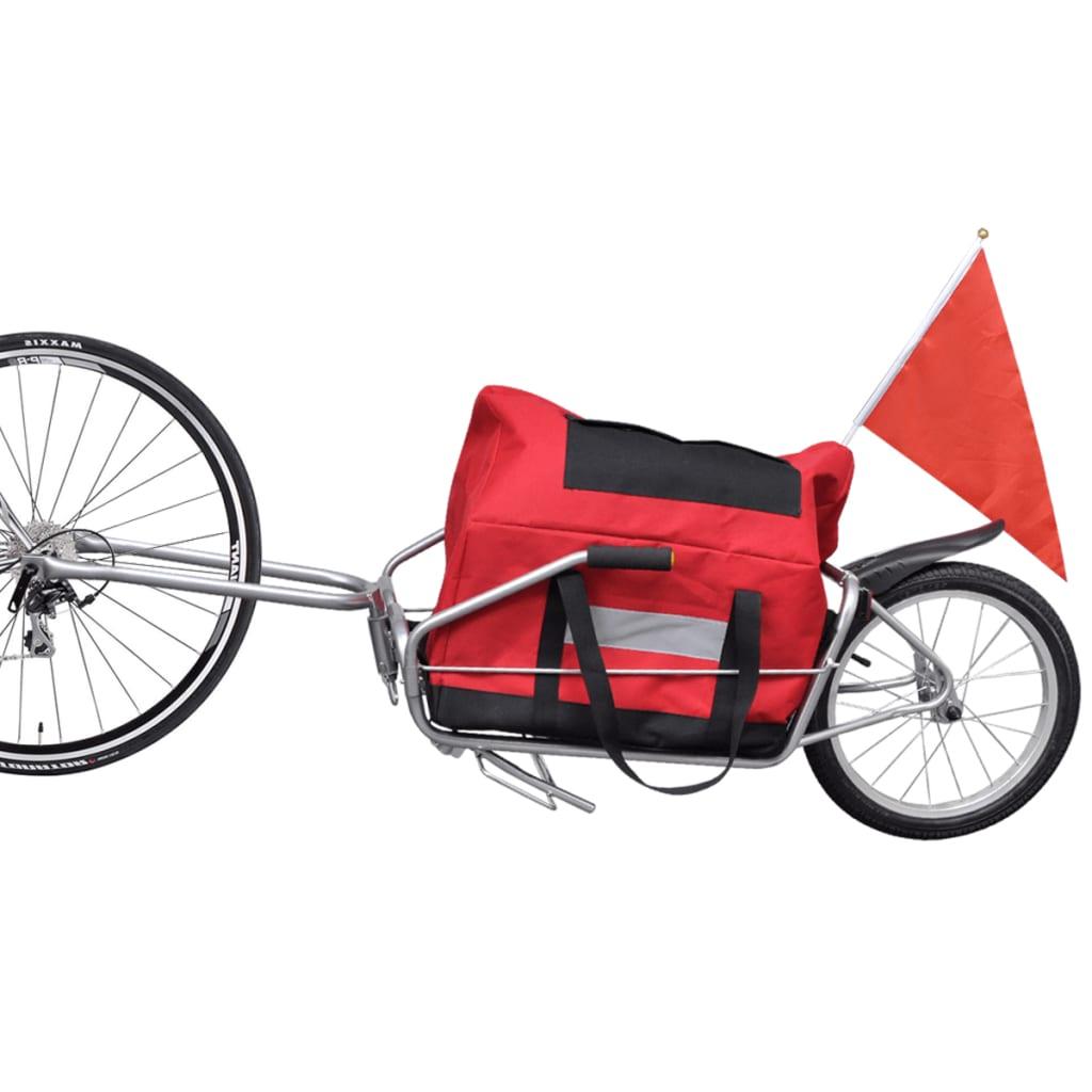 vidaXL-Rimorchio-bici-bicicletta-trasporto-cicloturismo-carrello-con-ruota-borsa