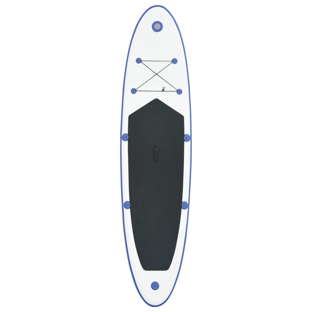 stand up paddle board set sup surfboard inflatable blue and white. Black Bedroom Furniture Sets. Home Design Ideas