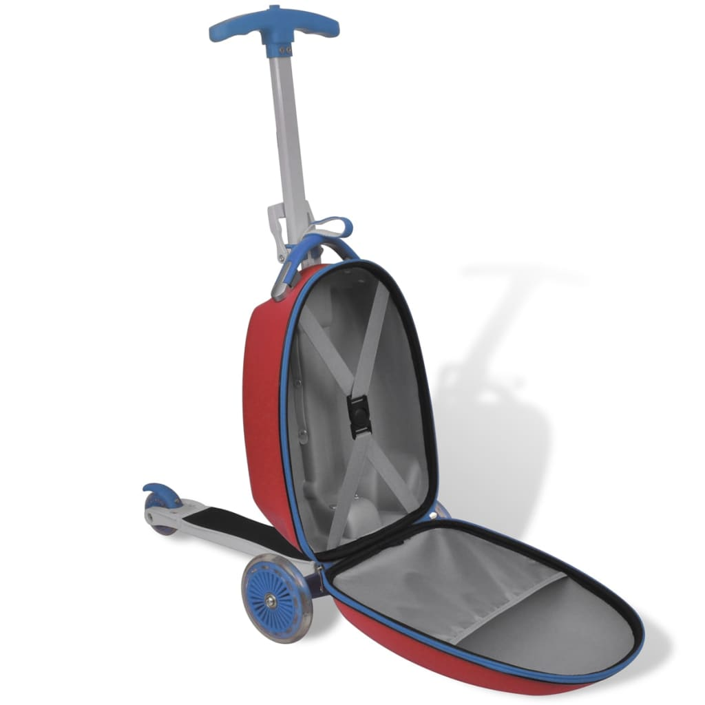 la boutique en ligne trottinette rouge pour enfant avec valise l 39 avant. Black Bedroom Furniture Sets. Home Design Ideas