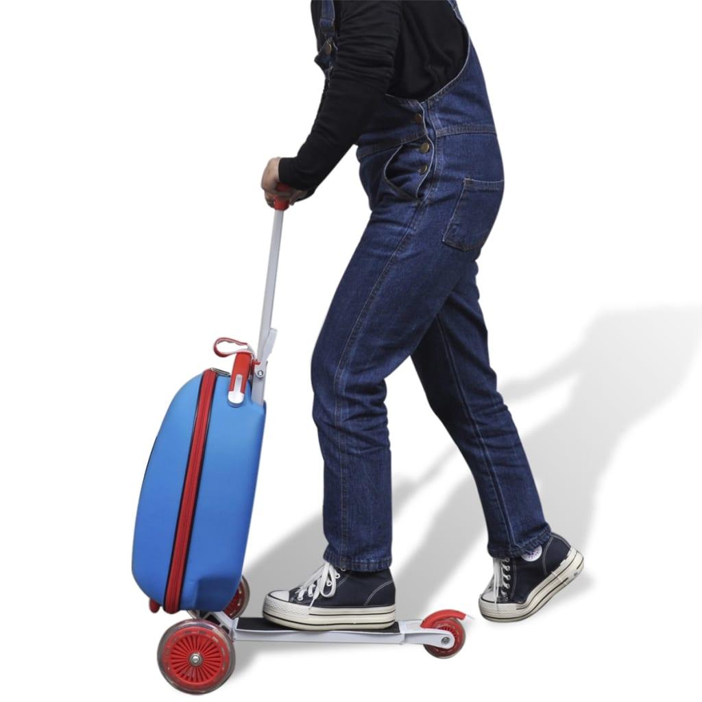 Der roller mit koffer f r kinder blau online shop Der roller