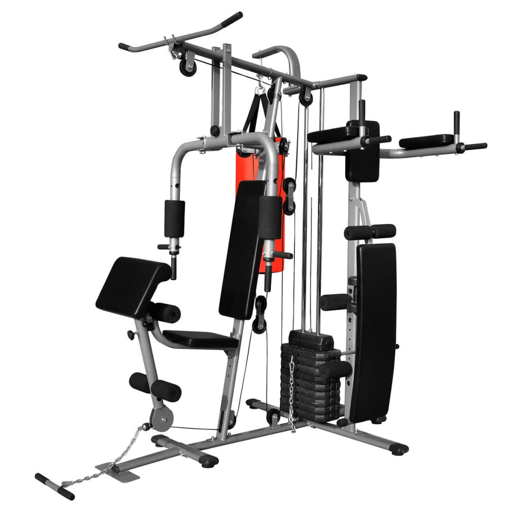 Vidaxl multi functional home gym with boxing bag