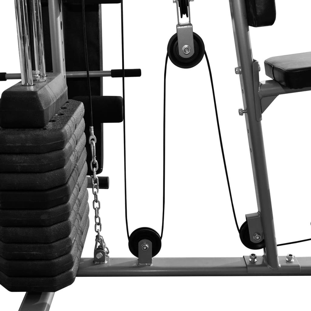 vidaXL Multifunktions-Fitnessgerät Home Heimtrainer Hantel Sit-Up Bank Boxsack☺ Kraftstationen