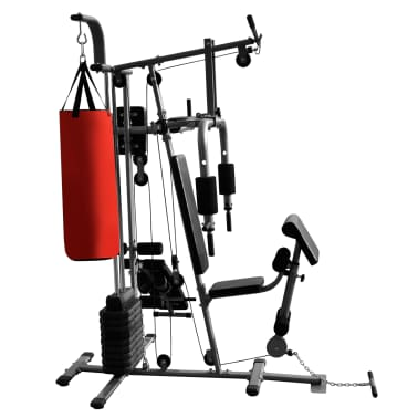 Fitness Kraftturm Multifunktionaler Heimtrainer mit Boxsack[4/8]