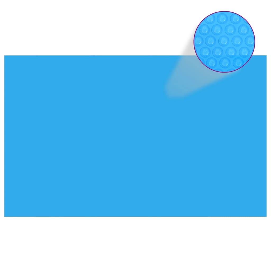 vidaXL Négyszögletes medence borító 260 x 160 cm-es PE kék