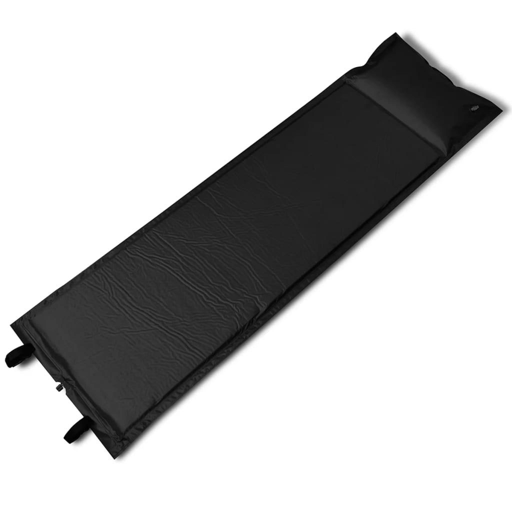 vidaXL Önfelfújós alvó matrac 185 x 55 3 (egyszemélyes) fekete