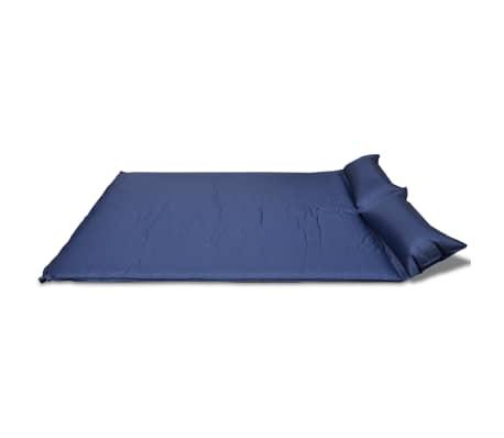 matelas autogonflant bleu 190 x 130 x 5 cm 2 personnes. Black Bedroom Furniture Sets. Home Design Ideas
