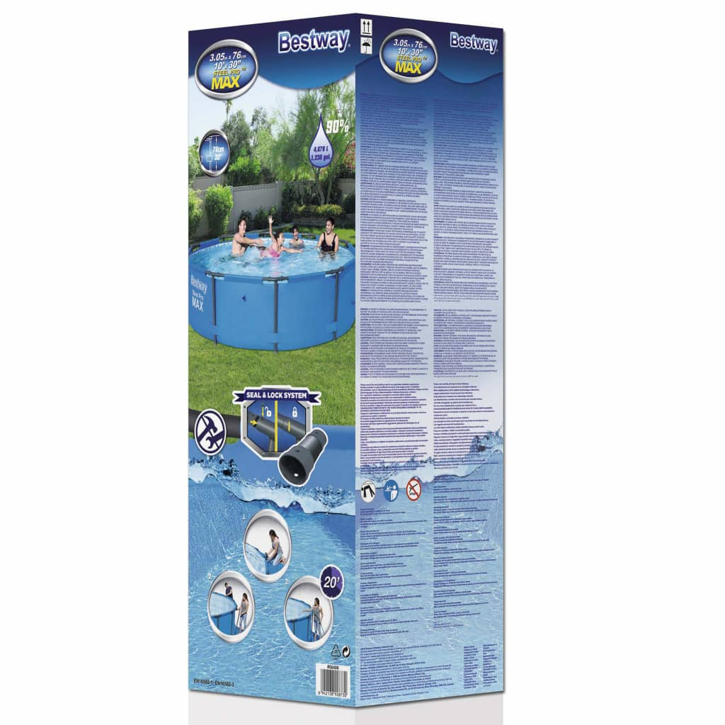 La boutique en ligne piscine gonflable ronde bestway steel for Piscine acier solde